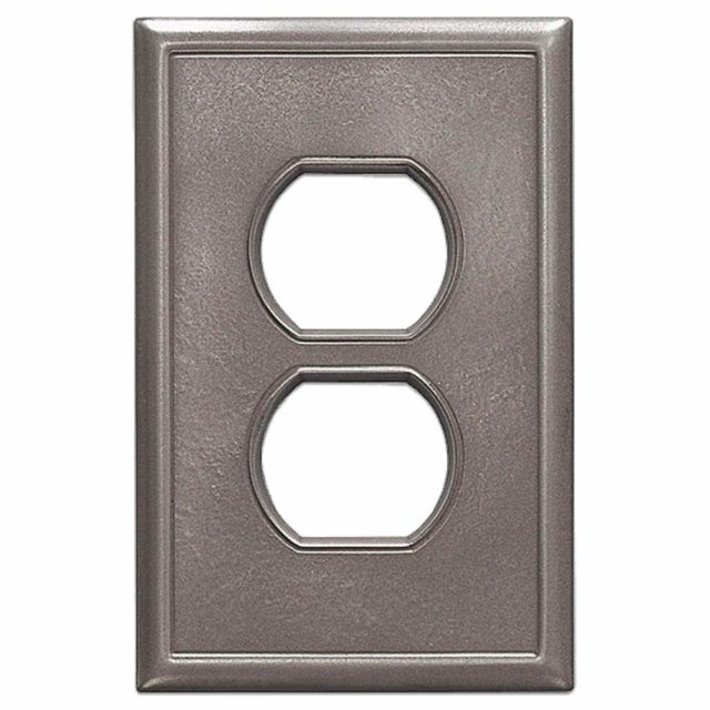 Single Duplex - 3 Pack Questech Gray Insulated Wall Plate//Switch Plate//Outlet Cover