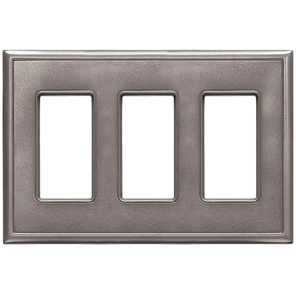 Clic Less Triple Decorator Gfci Switch Plate Cover